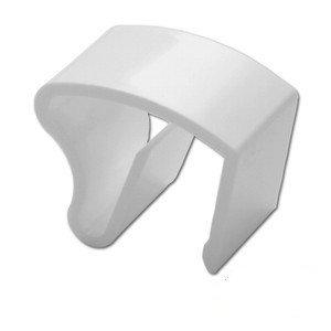 3 Stück Jalou-Klick - Klemmträger Kunststoff für Alu-Jalousien - Farbe: weiss - Aluminiumjalousien - Jalousien - Alu Jalousien (03er Set = 3 Stück Klemmträger)