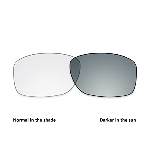 ToughAsNails Lente fotocromática transparente de repuesto para gafas de sol Oakley Jupiter Squared OO9135 - fotocromática transparente