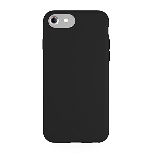 Woodcessories - Bio Case kompatibel mit iPhone SE (2020) / 8/7 / 6 / 6s - Nachhaltig, biologisch abbaubar - BioCase Schwarz