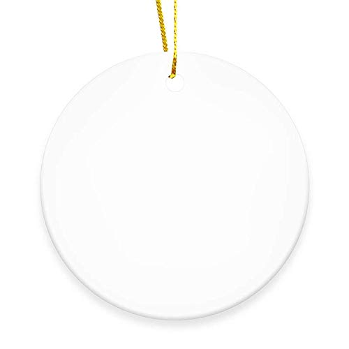 2020 Christmas Ornament, 3 Inch Ceramic DIY Christmas Ornaments Gift for Friends and Families, Creative Xmas Tree Decoration - Blank