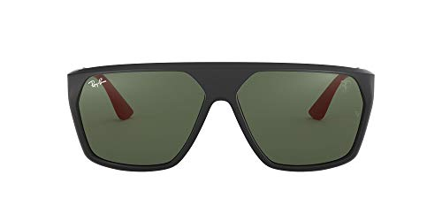 Ray-Ban RB4309M 61 Óculos de sol masculinos 61 mm, Matte Black/Green, 60 mm