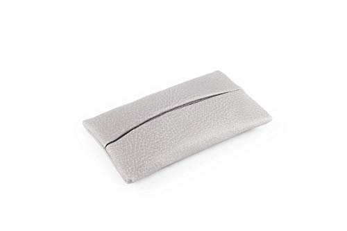 「Thing.Is」Pocket Tissue Holder for Purse, Travel Tissue Holder, Pocket Tissue Cover, Travel Tissue Holder, Portable Tissue Case, Tissue Pouch, Grey