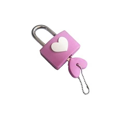 リタプロショップ? ハートキー ハート型 南京錠 ピンク ハート形 かわいい おしゃれ 鍵 ロック