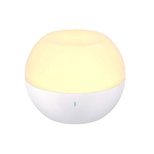 NARUJUBU Luz de noche USB impermeable, lámpara de luz for el dormitorio, IP65 a prueba de agua, material de seguridad y anti caída, lámpara de mesa, luz blanca y luz cálida regulables, cambio de color