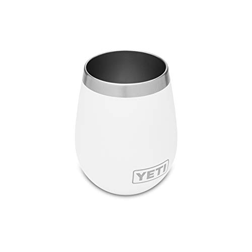 YETI Rambler 10 oz Wine Tumbler, Vacuum Insulated, Stainless Steel, White