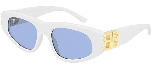 Balenciaga Gafas de Sol BB0095S WHITE/LIGHT BLUE 53/19/135 mujer