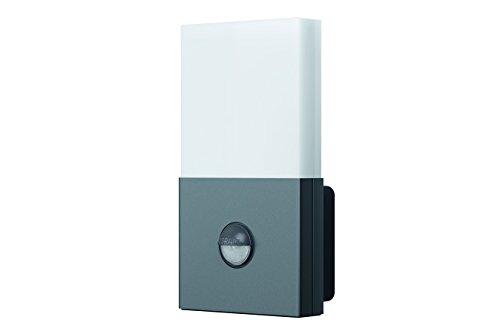 Osram LED Wandlampe, Noxlite, grau, Tageslichtsensor, Bewegungssensor, Außenleuchte, 6 Watt, Warmweiß- 3000K