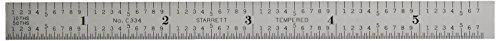 """Starrett C334-150 2-Sided 6"""" Steel Ruler"""