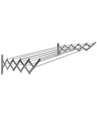 Sauvic 100 cm. con 10 Varillas Tendedero, Aluminio, Plegable