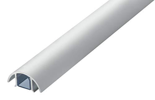 Mini Design Aluminium Kabelkanal für z.B. Lautsprecher - 30mm breit von ALUNOVO (Länge: 120cm, Silber Matt Eloxiert)