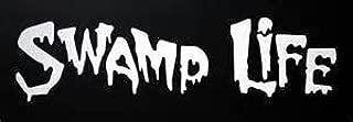 Swamp Life Alligator Hunter Louisiana Vinyl Decal Sticker WHITE Cars Trucks Vans SUV Laptops Tool Box Wall Art 7.5
