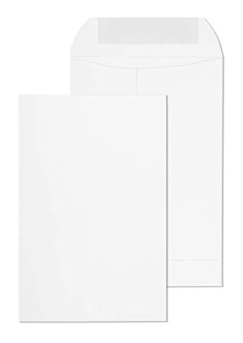 EnDoc Redi-Seal Catalog Envelopes - 6 x 9 Inch Bright White Open End Envelopes with Self Seal Closure - 28lb Heavyweight Paper Envelopes for Home, Office, Business, Legal or School - 250 Count