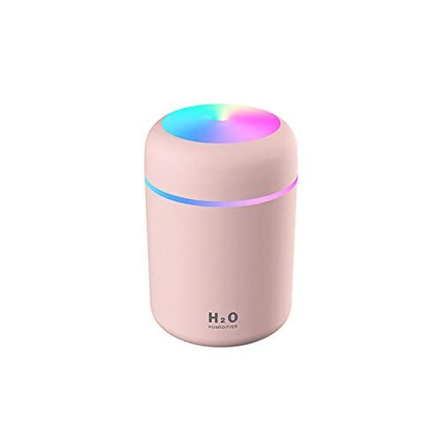 Humidificador USB 300 ml blanco mini humidificador de aire aroma difusor de aceite esencial con lámpara romántica USB Mist Maker aromaterapia humidificadores
