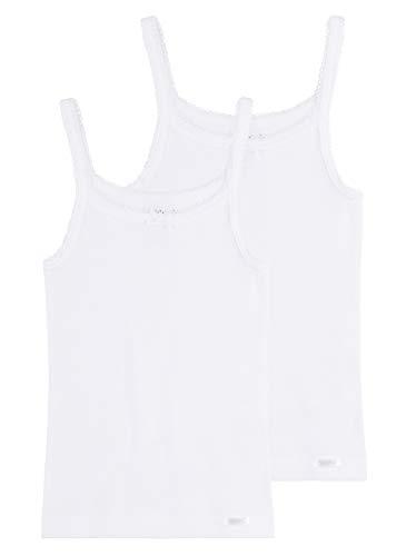 Sanetta Camiseta interior para niña con tirantes estrechos en paquete doble de...