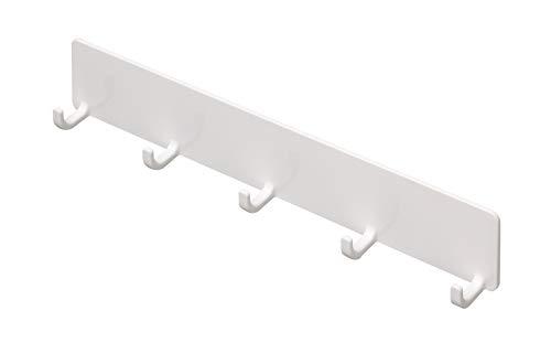 東和産業 浴室用ラック ホワイト 約28×2.9×5cm 磁着SQ マグネット バスフック 5連 39201