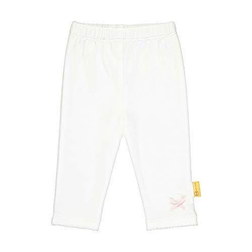 Steiff Baby-Mädchen Leggings, Weiß (Bright White 1000), 86 (Herstellergröße: 086)