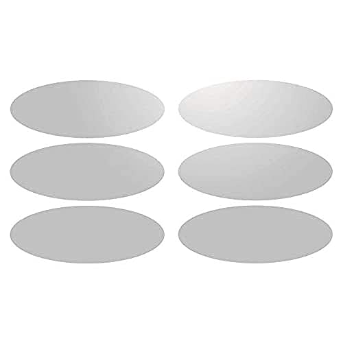 6 Bandes Adhésives Réfléchissantes pour Signalisation sur Casque 8x3 cm Blanc Réfléchissant