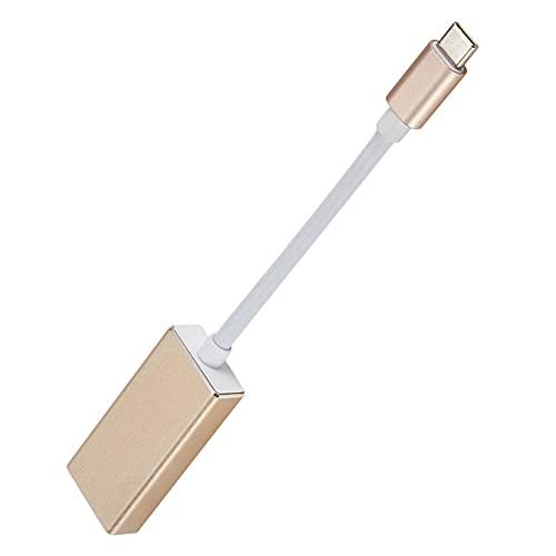 bulingbuling USB-C para visualizar DP Puerto Hub Adaptador convertidor de Cable para el Ordenador portátil de 12 Pulgadas Teléfono Oro