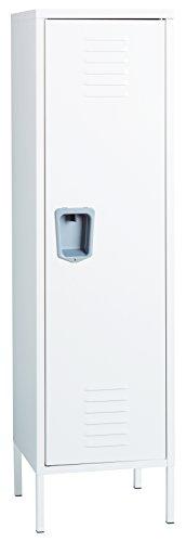 Office Dimensions Personal Locker Storage Cabinet, White