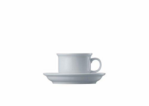 Tasse à Expresso et Soucoupe Thomas Trend, Porcelaine, Blanc, Compatible Lave-Vaisselle, 10 cl, 2 Pièces, 14715