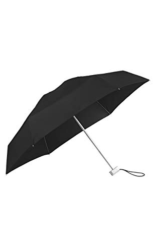 SAMSONITE Alu Drop S - 5 Section Manual Supermini Flat Regenschirm, 17.5 cm, Black