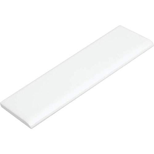 Box of 100, Daltile Surface Bullnose Ceramic Tile, 2 X 6', White Semi-Gloss, Made in The USA