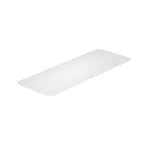 Thirteen Chefs Industrial Shelf Liners 48 x 18 Inch, 5 Pack Set for Wired Shelving Racks, Clear Polypropylene