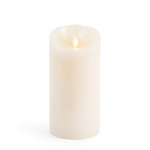 Luminara Flameless Candle: Unscented Moving Flame Candle with Timer (7 Ivory)