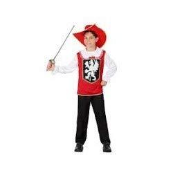 DISFRACES GILMAR Disfraz de Mosquetero Rojo Infantil - 5-6 aos