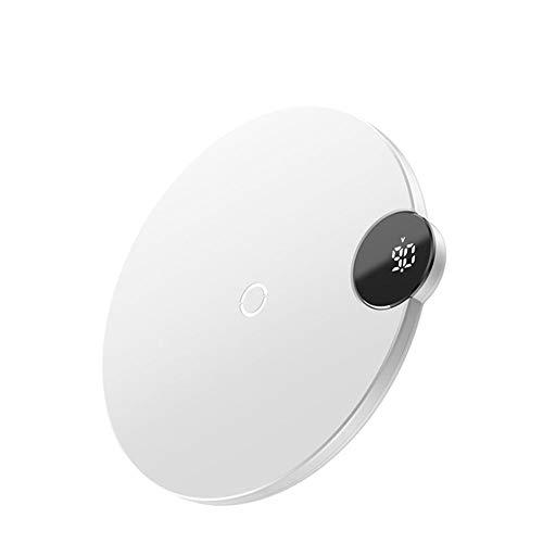 Qi LCD Digital Display Desktop Wireless Fast oplader voor mobiele telefoons met draadloos opladen of Built-in Wireless Charging Ring