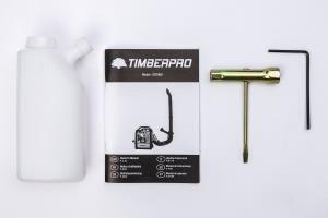 TIMBERPRO 5 en 1 Motosierra – Desbrozadora – Cortasetos gasolina 52 cm³, 3,0 cv de potencia