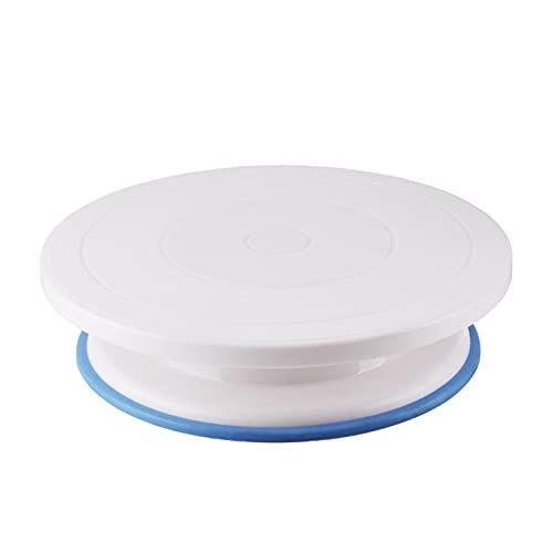 Yuoan Plato giratorio para tartas, soporte giratorio para tartas, soporte para tartas, soporte para pasteles, fondant, herramientas de horneado, accesorios, 27,5 x 7 cm