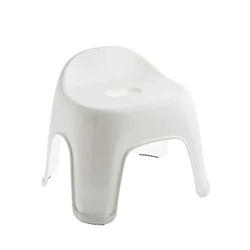 Tuker Badezimmerbank, Hocker aus Kunststoff, dick, rutschfest, weiß, S