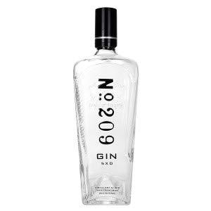 No 209 Gin 0,7l 700ml Dummy Leere Flasche Dekoration - Made in USA - OHNE Inhalt