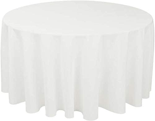 Craft And Ranking TOP13 Party Premium Polyester Tablecloth - shopping Round White 120