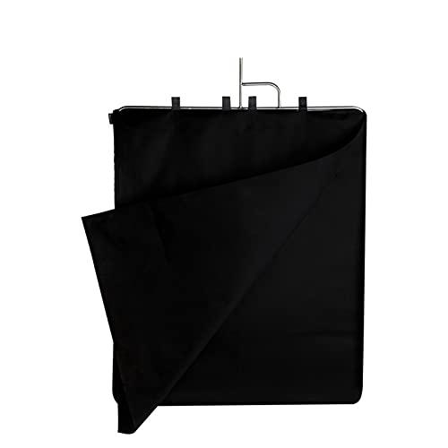 MTGJFDDFO 75x90cm Panel de Bandera de Acero Inoxidable Apto para Foto grafia acesorios cámara Video Estudio Negro