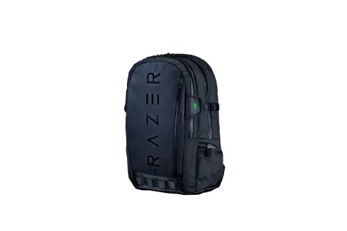 Razer Rogue V3 Backpack Edizione Nero Zaino da Viaggio Compatto, Scomparto Dedicato per Portatili da 15 Pollici, Esterno in Poliestere Antipiega e Resistente alle Abrasioni
