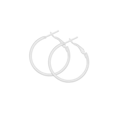 SoulCats® 1 Paar weiße Creolen, Größe:Ø 3 cm