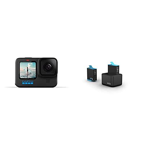 GoPro HERO10 Black + Dualladegerät + Akku (HERO9 Black) - Offizielles GoPro-Zubehör ADDBD-001-EU