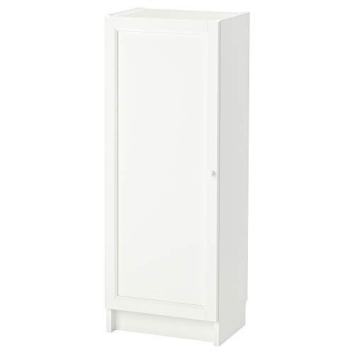 OXBERG/BILLY estantería con puerta 40x30x106 cm blanco
