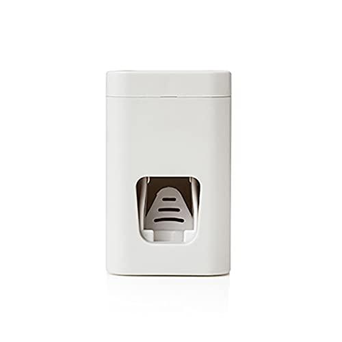 DLRBWAN Montado en la Pared Conveniente Soporte de Cepillo de Dientes Cepillo de Dientes Cepillo de Dientes Almacenamiento Accesorios de baño Multifunción Dispensador automático de pastas de Dientes