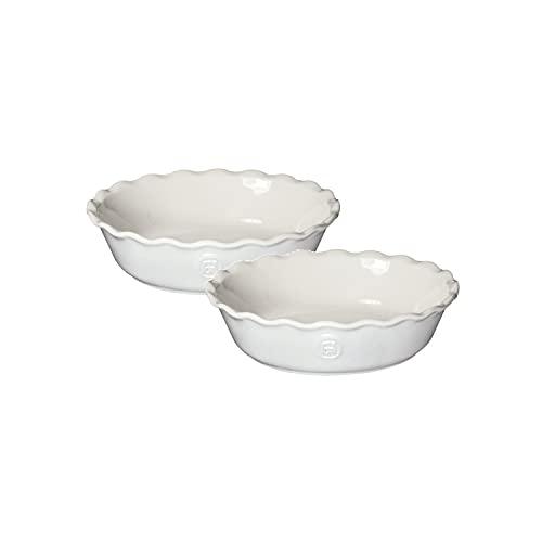 Emile Henry 239522 Set of 2 Mini Pie Dish, Ceramic, Sugar