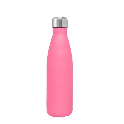 Kuayds Botella de Agua Con Aislamiento al Vacío de Doble Capa de Acero Inoxidable 12 Horas de Calor y 24 Horas de Frío Sin BPA Botella Deportiva Portátil Ultra Delgada a Prueba de Fugas 500 ml