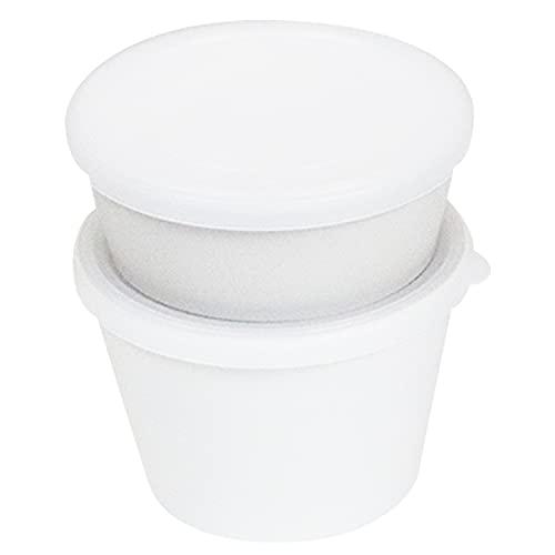 竹中 デリカップ 抗菌 ホワイト 上段約300ml 下段約500ml T-06636