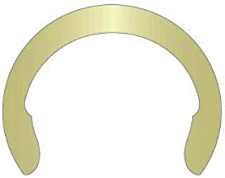 Pkg of 820 Stamped 1//4 External Crescent Ring Zinc Yellow Spring Steel C-025-ZD//B USA