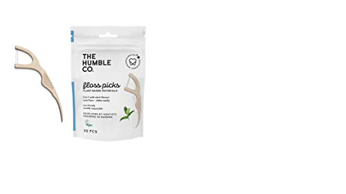Humble Natural Dental Floss Picks - Flossers - Palillos de hilo dental - 2 x 50 paquetes