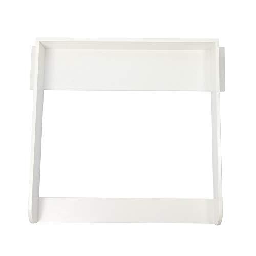 Puckdaddy Wickelaufsatz Knut – 90x75,4x10 cm, Wickelauflage aus Holz in Weiß, hochwertiger Wickeltischaufsatz passend für alle IKEA koppang Kommoden, inkl. Montagematerial zur Wandbefestigung
