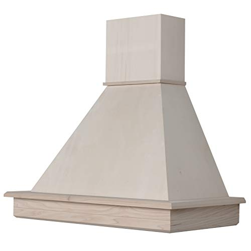 Cappa cucina rustica mod.Stock 90 parete - in legno grezzo da verniciare