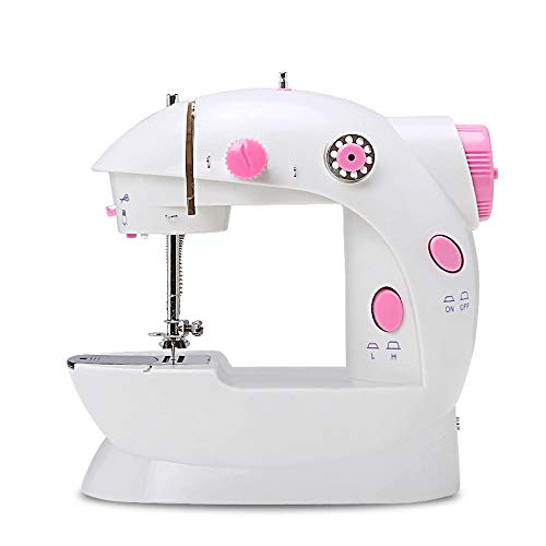Tailor Machine, Draagbare Naaimachine Elektrisch Hand-Held Beginner Apparatuur Sewing 2 Work Mode Met Lighting-Functie, Met De Hand Gemaakte Home Fabric,Pink