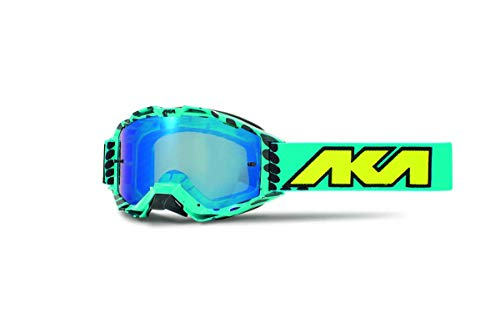 Masker Cross AKA Vortika Race Neon Blue Black Dots